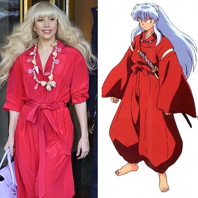 #NothingIsOriginal @ladygaga stole #Inuyasha's look 💋